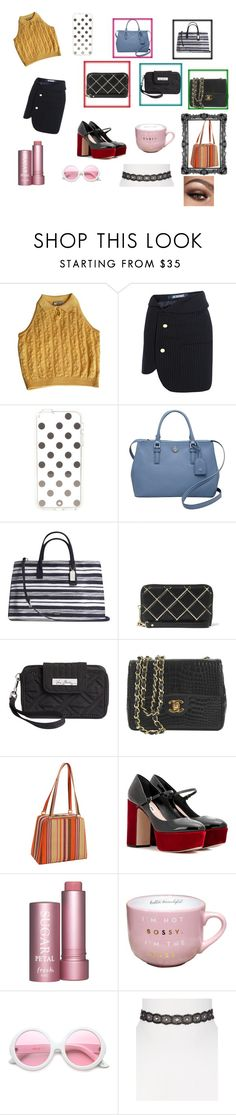 """I'm the B-O-S-S!"" by fabsim ❤ liked on Polyvore featuring Versace, Jacquemus, Kate Spade, Tory Burch, Coach, MICHAEL Michael Kors, Vera Bradley, Chanel, Soapbox Bags and Miu Miu"
