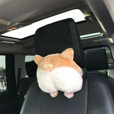 Novelty Corgi Bottom Car Seat Neck Pillow Dog Buttocks Headrest Cushion Plush Toy car accessories Accesorios de coche Cute (Beige)  Price: 9 & 🎁FREE GIFT* on our website + FREE Shipping or Very Low price at Shipping 😀 Share to friends ❤️!  Please Follow us ! ✅  #fun #outside Cute Corgi, Corgi Dog, Best Neck Pillow, Dog Car Accessories, Car Seat Headrest, Cute Pillows, Throw Pillows, More Cute, In This World