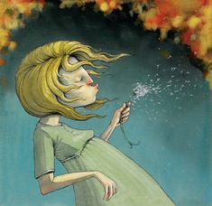Lisa Aisato Kawaii Illustration, Children's Book Illustration, Graphic Design Illustration, Beautiful Soul, Beautiful Images, Dandelion Art, Children's Picture Books, Reference Images, Drawings