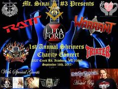 Coming to a field near you Sept 2017. The 1st Mt Sinai Shriner's Annual Charity Concert.