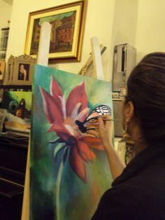 Leila ENGELS (née en 1969) peintre