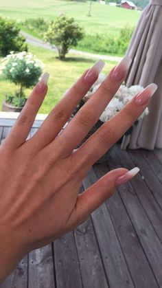 Ombré French Nails – The Best Nail Designs – Nail Polish Colors & Trends Ombre French Nails, Long French Nails, Coffin Nails Ombre, Nail French, Nails French Design, Red Ombre Nails, Pink Coffin, French Manicures, French Tips