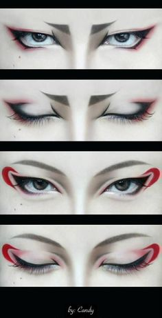 Hoozuki & Hakutaku cosplay - Character make-up << dunno who that is but this reminds me kinda of Karai's make-up from the 2012 series<<< don't know any of these but cool makeup Anime Make-up, Anime Eyes, Anime Hair, Make Up Art, Eye Make Up, Maquillage Halloween, Halloween Makeup, Maquillage Cosplay Anime, Geisha Make-up