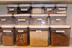 OXO Good Grips POP containers make my organized side swoon.  I'd love to fill up a pantry with these, holding beans and pasta and flour and sugar and munchies and...