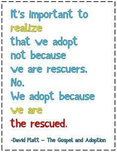 Beautiful words about adoption from David Platt  originally from Kidmia.org