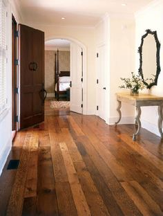 This is the floor I want to put in my house.  Wide plank floor - random width.