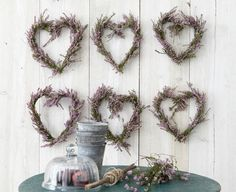 Anleitung Herzkranz aus Heidekraut oder Lavendel- Wreath made of heather or lavender