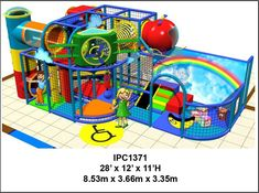 Children Entertainment Centers CEC Indoor Playground Equipment rainbow