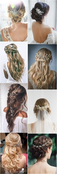 Wedding Hairstyles » Hair Comes the Bride – 20 Bridal Hair Accessories Get Style Advice for Any Budget ❤️ See more:  http://www.weddinginclude.com/2017/03/hair-comes-the-bride-bridal-hair-accessories-get-style-advice-for-any-budget/