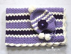 Bold stripes and Cluster V-stitches are the perfect pair in this crochet blanket! This isa simple repetitive pattern that works up quickly. Make it as long/wide as you'd like and the color combination possibilities are endless! Materials: – Worsted Weight Yarn. I used Loops & Threads Impeccable in Aran, Lavender, and Amethyst. – Size H …