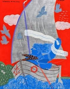 pinkpagodastudio: Alekos Fassianos (born is a Greek Expressionist painter Greece Painting, Greek Art, Bookbinding, Art School, Art Forms, Book Art, Contemporary Art, Arts And Crafts, Artsy