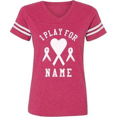 Breast Cancer Soccer Tee | Show your love and support for someone you know who is fighting breast cancer with a custom shirt. This ribbon heart design is perfect for charity sports games. Wear this cute top to raise awareness during the month of October.