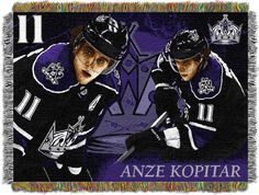 "Anze Kopitar - Kings """"Players"""" 48x60 Tapestry Throw"