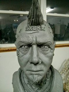Lar Frederiksen Portrait made out of water based clay