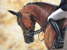 Pferd, Springpferd, Pony, Malerei, Tiere