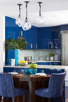 blue kitchen | Rachel Reider Interiors