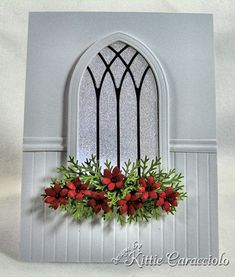Chair rail made with crimped strip--could be used as Wedding, Sympathy or Christmas card