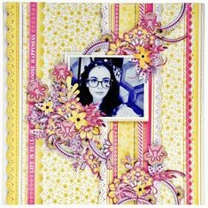 Layout I created for the Merly Impressions May crop, using Paisley Days Kaisercraft collection. Diy Scrapbook, Scrapbook Pages, Scrapbooking, Scrapbook Layouts, Craft Cupboard, All Paper, Craft Tutorials, Paisley, Paper Crafts