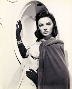1940s Gene Dolls | Mothic Flights And Flutterings, Gene Tierney C. 1940s gene tierney, 1940s fashion, cape, vintage glamour, 1940s fabul, beauti, classic hollywood, 1930s1940s1950s style, retro vintage