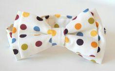 Truly dapper boy's polka dot double bow tie http://www.chocolatepuddinnoodlesoup