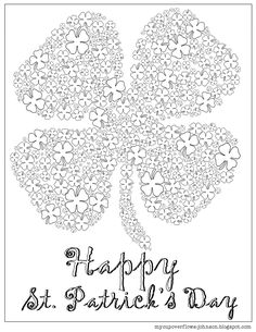 My Cup Overflows Happy St Patricks Day Coloring Page