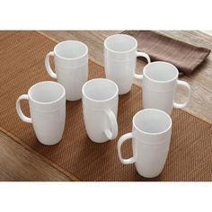 Better Homes and Gardens 18 oz Latte Mug, Set of 6 - Walmart.com
