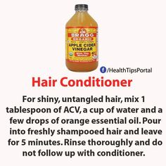 ACV for hair conditioner