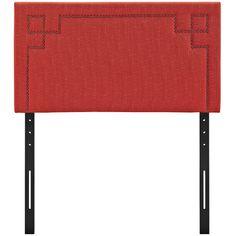 Josie Upholstered Panel Headboard Size: Twin, Upholstery: Atomic Red - http://headboardspot.com/josie-upholstered-panel-headboard-size-twin-upholstery-atomic-red-653789831/