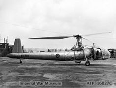 Cierva W.9 (1945) was a British experimental helicopter with a three-blade tilting-hub controlled main rotor, and torque compensation achieved using a jet of air discharged from the rear port side of the fuselage.
