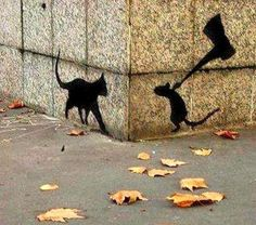 Banksy-Cat & mouse