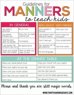 Manners 101 #kids #parenting #mom