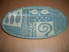 oval platter by PatchworkPottery, via Flickr