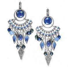 Pendientes de la marca de bisutería francesa Franck Herval. Colección Verano 2014 Lilly Blue http://www.tutunca.es/pendientes-lilly-blue-franck-herval-color-azul