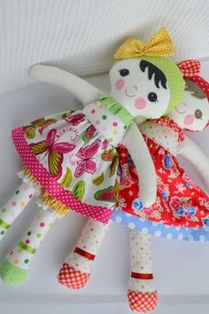 PDF sewing pattern Doll, soft toy, Dressed doll ,    'LEAH HONEY' Dolly by GEESPROJECTS on Etsy https://www.etsy.com/listing/226136404/pdf-sewing-pattern-doll-soft-toy-dressed