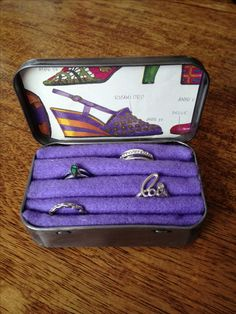 Inside of my Ring Box....from old Altoid tin...found Altiod box on our trip to Leura Candy Shop