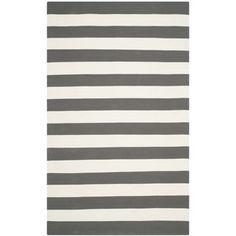 Safavieh Hand-woven Montauk Grey/ White Cotton Rug (5' x 8') - Overstock™ Shopping - Great Deals on Safavieh 5x8 - 6x9 Rugs