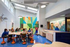 A construção de uma escola primária em os EUA