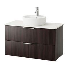 GODMORGON/ALDERN / TÖRNVIKEN A/lb+enc 50 - negro-marrón, blanco - IKEA