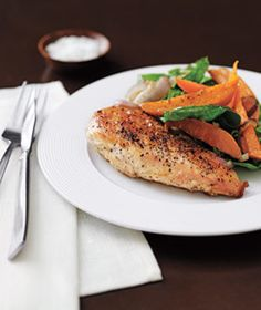 Quick, easy, and healthy, this chicken-and-vegetable combo makes a perfect weeknight dinner. | A gallery of tasty dishes to whip up on the stove―most in just about 30 minutes.