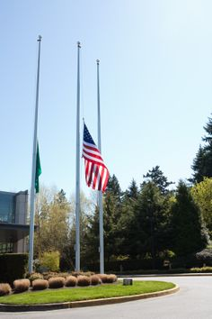 flag half mast washington