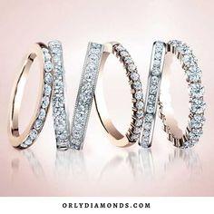 Rose Gold & Diamond Wedding Bands....Hot Hot Hot at OrlyDiamonds.com