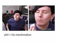 Omg he looks so cute in the second picture i can't #pharshmillow