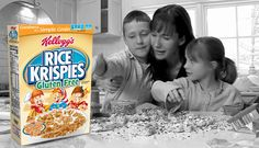 Rice Krispies® Gluten Free With Brown Rice Recipe - Kellogg's® Rice Krispies® - yummy treat if you add a little stevia/pure via & chocolate (unsweetened) almond milk ... delish!