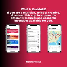 CovidAid: an app for musicians and creatives by Stereotheque Music Industry, Singles Day, Musicians, Infographic, Investing, Hacks, App, Tools, Creative