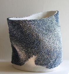 kompajunior:  Swirling ceramic art by Fenella Elms.