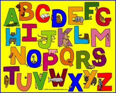 alphabets for kids | This animals alphabet appears on children's clothing, parents ...