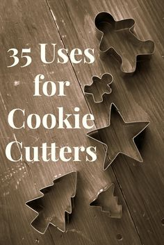 Unique, frugal, and crafty ideas for using cookie cutters in cooking, art, and activities for the kids! Over 35 in all!