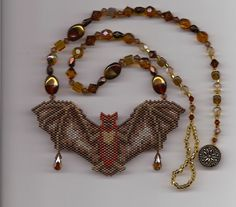 Beaded Bat Necklace by BeadsOfDarkness on Etsy, $75.00