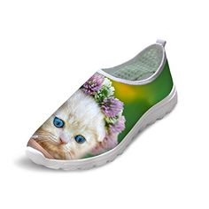 sports shoes 56809 90495 Amazon.com  Bigcardesigns Cute Kitten Slip on Running Shoes Sport Sneakers  35  Running