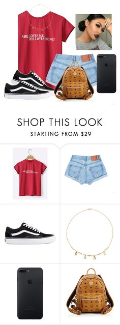 """Hey boy I really wanna see if you can go long time with a girl like me??"" by aerielle24 ❤ liked on Polyvore featuring Vans, Frasier Sterling and MCM"